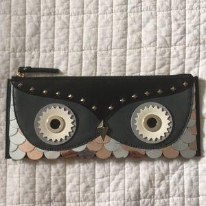 kate spade owl clutch purse
